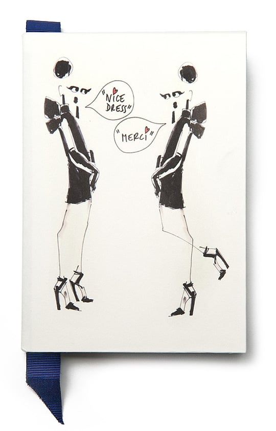 For the major fashion fan, stuff her stocking with this beautiful Lanvin small notebook ($55).