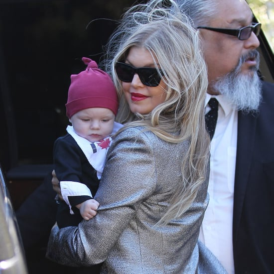 Fergie and Josh Duhamel With Axl on Christmas