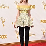 Kiernan Shipka showed off another Dior dress-over-trousers ensemble at the 2015 Emmy Awards.