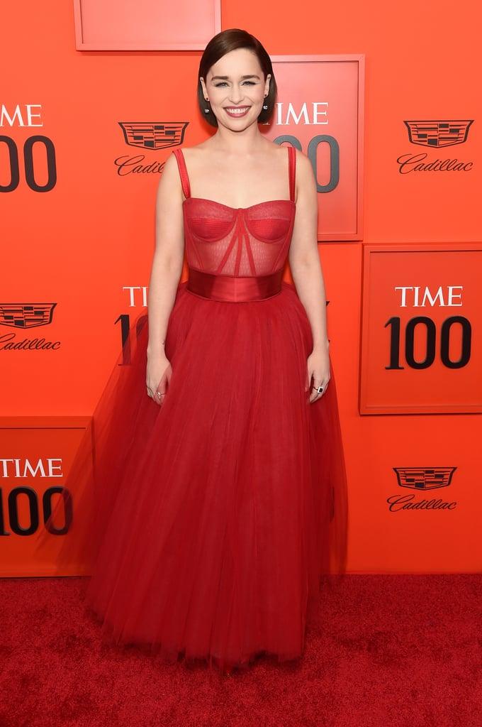 Emilia Clarke's Red Dolce & Gabbana Dress