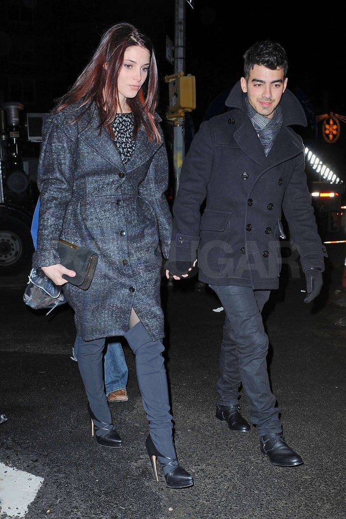 Pictures of Ashley Greene and Joe Jonas Leaving The Lion Restaurant in NYC