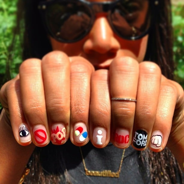 Hannah Bronfman's happy to spell it out on her nails for Jay Z. Source: Instagram user hannahbronfman