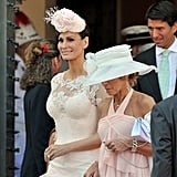 Isabell Kristensen walks out after the civil ceremony of Princess Charlene of Monaco and Prince Albert II of Monaco.