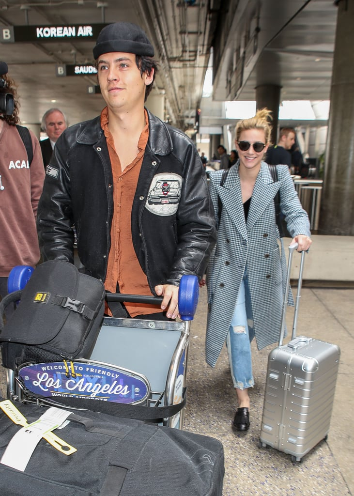 Lili Reinhart and Cole Sprouse Airport Style in Los Angeles, California.