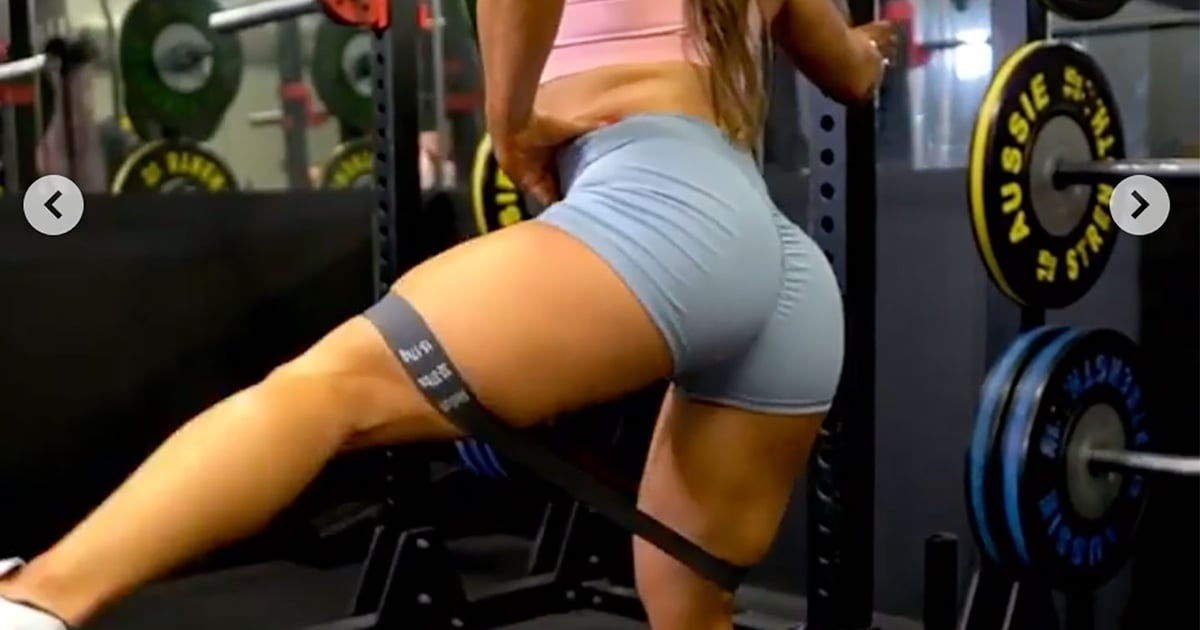 "Grab a Dumbbell and a Mini Band, and Prepare Your Butt For This ""Glute-Smashing Workout"""