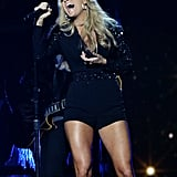 Carrie Underwood performed on stage during the CMAs.