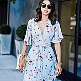 A Floral Dress With Bell Sleeves