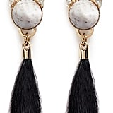 Anton Heunis Swarovski Crystal Vintage Stone Fur Drop Earrings