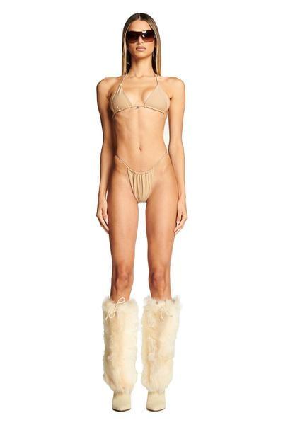 Bambi Bikini Top in Tan