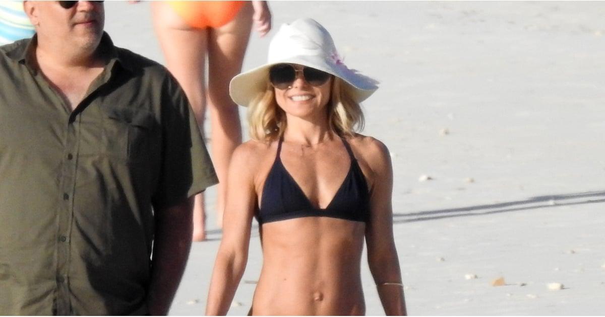 Kelly Ripa In A Bikini In The Bahamas Feb 2018 Popsugar Celebrity