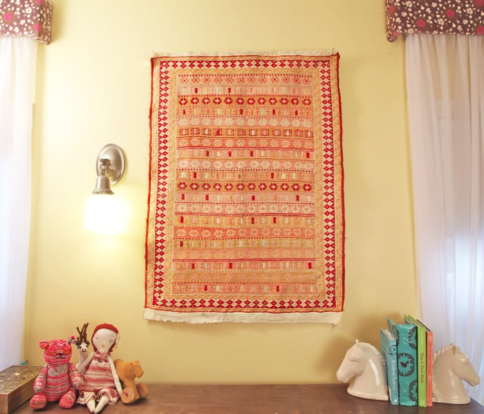 Hang A Rug As Wall Art Kids Room Decorating Hacks