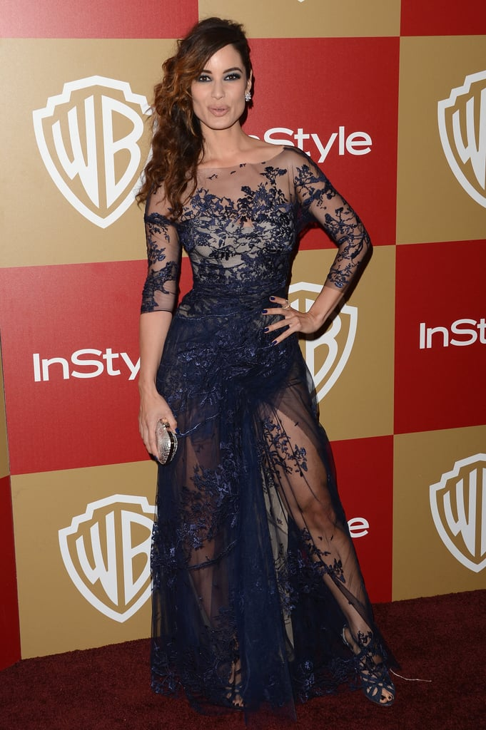 Bérénice Marlohe didn't leave anything to the imagination at the InStyle party, baring a lot of skin via sheer lace everything.