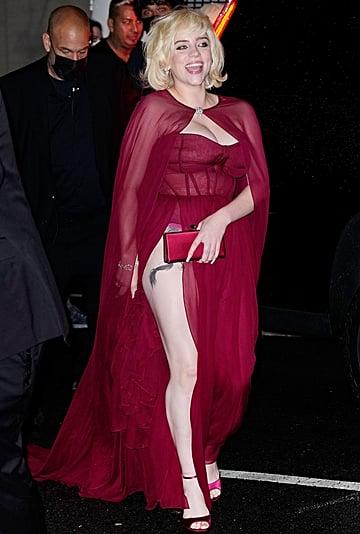 Billie Eilish's Red Oscar de la Renta Met Gala Indoor Dress