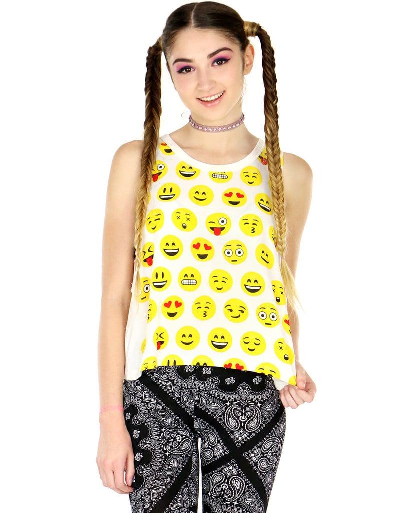 Emoji face tank ($24)