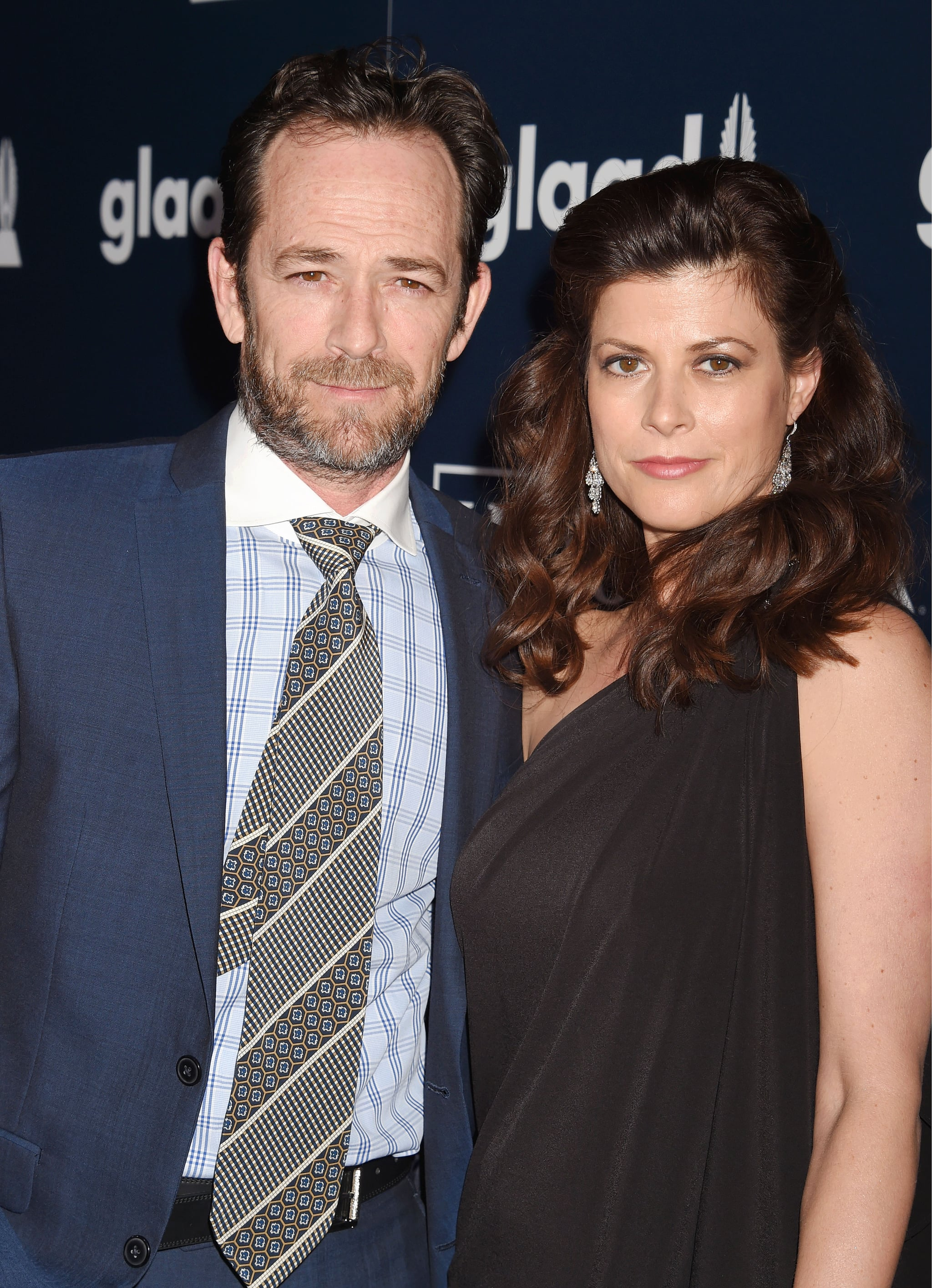 BEVERLY HILLS, CA - APRIL 01:  Actor Luke Perry (L) and guest attend the 28th Annual GLAAD Media Awards in LA at The Beverly Hilton Hotel on April 1, 2017 in Beverly Hills, California.  (Photo by Jeffrey Mayer/WireImage)