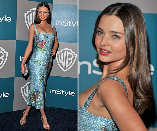 Miranda Kerr Makes a Sparkly Appearance at the InStyle Golden Globes After Party!