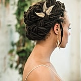 Wrap-Around Braids With Gold Accents