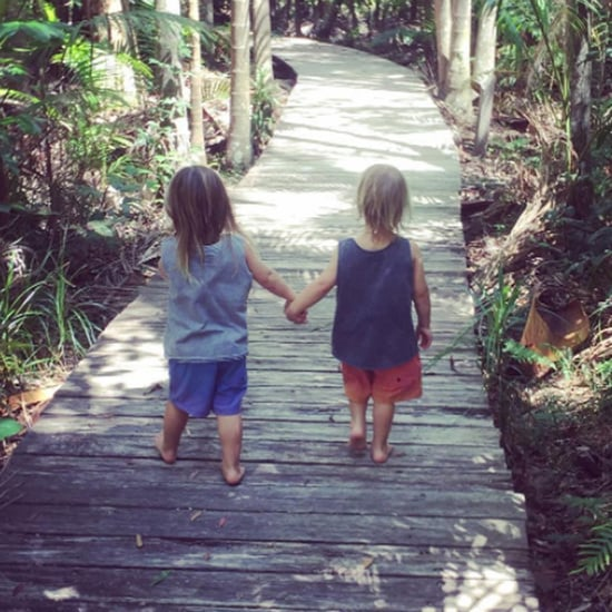 Chris Hemsworth's Picture of Twins Holding Hands 2017
