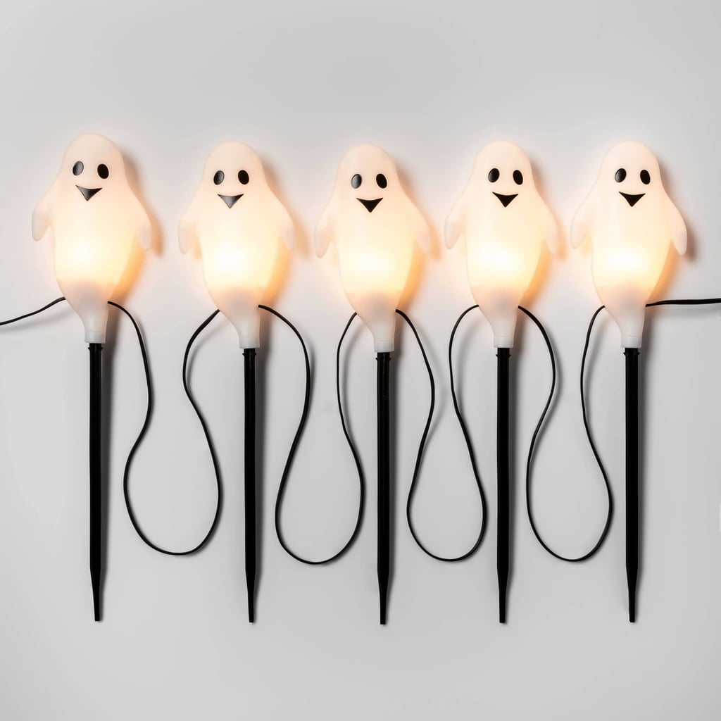 Incandescent Ghost Halloween Path Lights