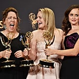 Ann Dowd, Elisabeth Moss, and Alexis Bledel