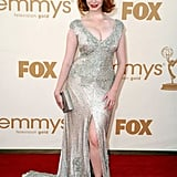 Christina Hendricks sparkled in a floor-length gown.