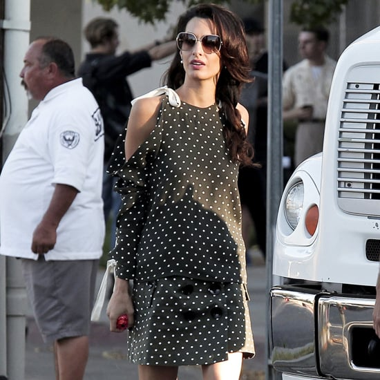 Amal Clooney Polka-Dot Outfit in LA October 2016