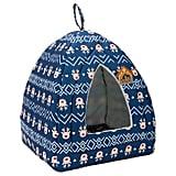 Hollypet Self-Warming 2-in-1 Cat Bed — Blue Reindeer