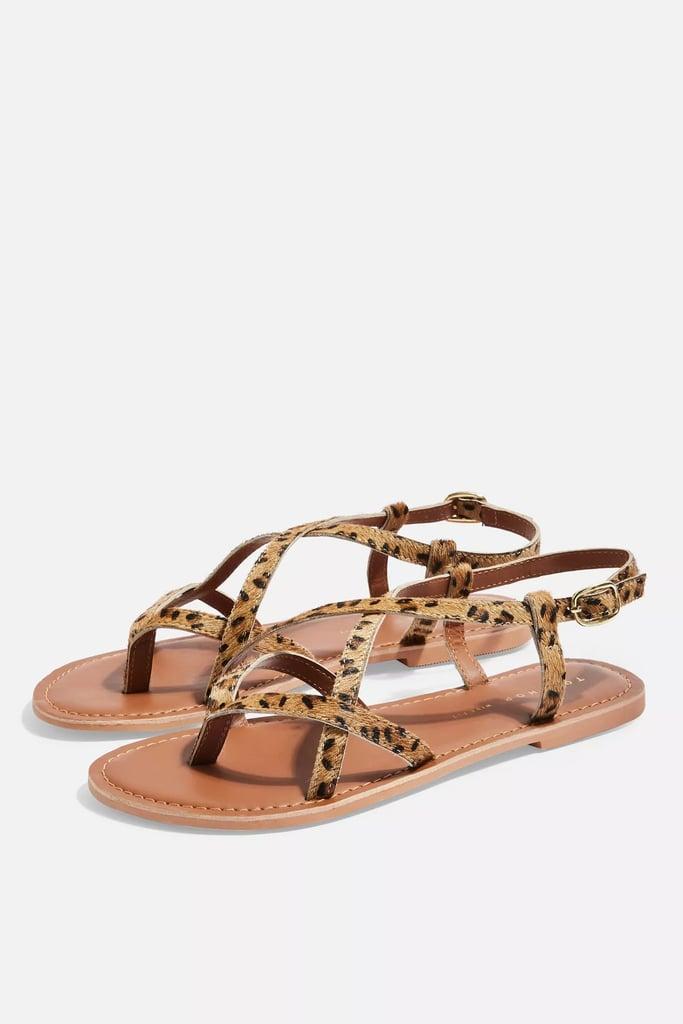 Topshop Wide Fit Hazel Flat Sandals