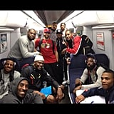 Chris Paul took a train ride with his basketball teammates. Source: Instagram user cp3