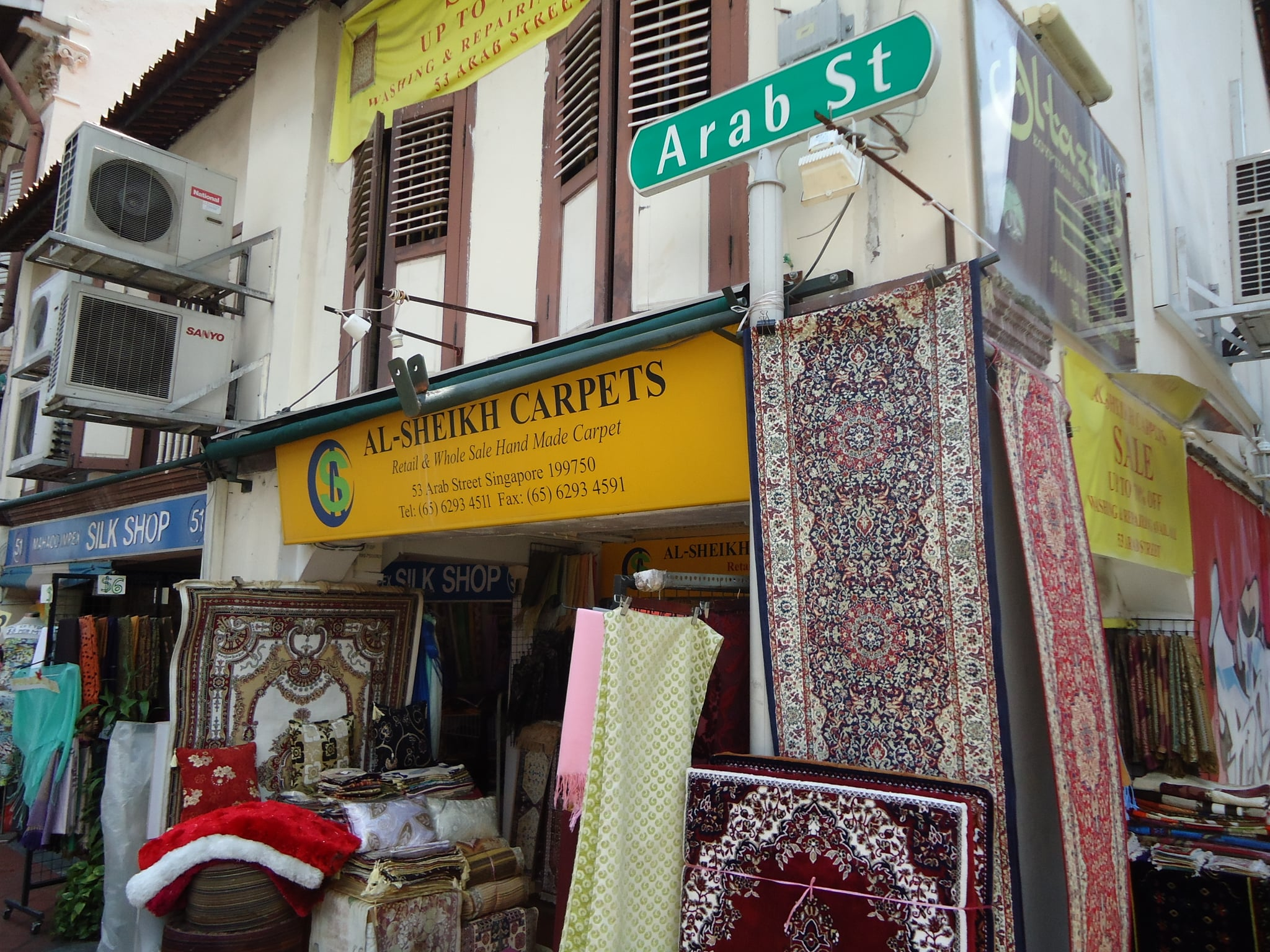 Arab Street was a fabulous cultural crush of prints, fabrics, colours and smells.