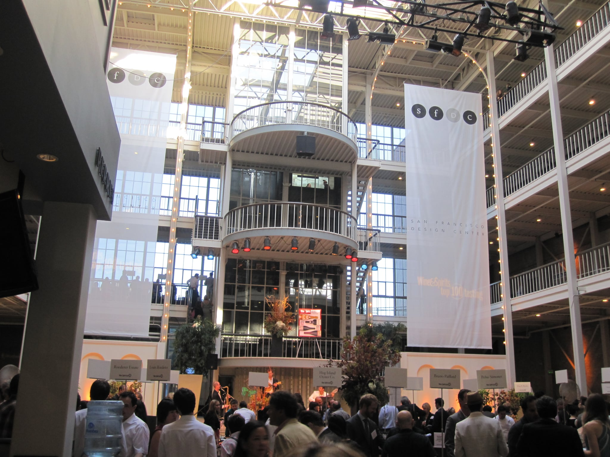The tasting was hosted at the San Francisco Design Center — oddly enough my high school prom was in the same space.