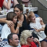 Jessica Alba and Her Daughters at US Open September 2016
