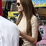 Angelina Jolie out in Richmond, London.
