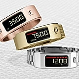 Want something even sleeker? Here are a few metallic options from the Garmin vivofit2 Signature Series (not yet released; available by March 2015).
