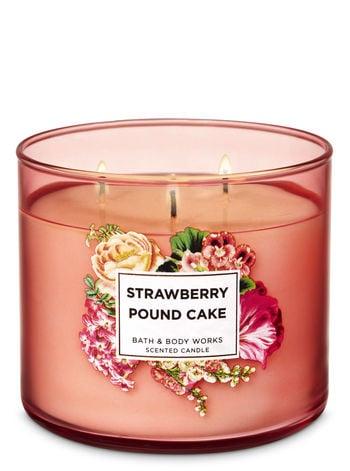 Bath & Body Works Strawberry Pound Cake 3-Wick Candle