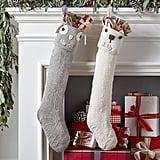 Woodland Linen Stockings Family Christmas Stocking Sets