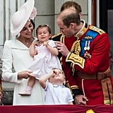 When He Playfully Cooed Charlotte During Trooping the Colour