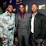 Chadwick Boseman, James Shaw Jr., and Michael B. Jordan