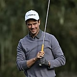 Josh wore a sweet smile while playing golf in Pebble Beach, CA, in February 2013.