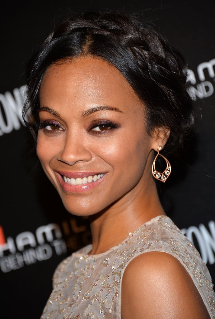 We love a good crown braid, and Zoe Saldana sported a sexy one at the seventh annual Hamilton Behind the Camera Awards.