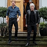 Prince Harry and Jon Bon Jovi Record at Abbey Road Studios