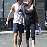 Emily VanCamp and Josh Bowman had a workout together.