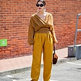 Autumn Outfit Idea: Mustard Jumper + Yellow Trousers