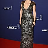 Kate Winslet in a sequin gown.