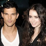 Lily Collins and Taylor Lautner London Premiere of Abduction