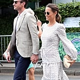 Pippa Middleton Wearing a J.Crew Clutch at Wimbledon
