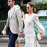 Pippa Middleton Wearing a J.Crew Clutch at Wimbledon