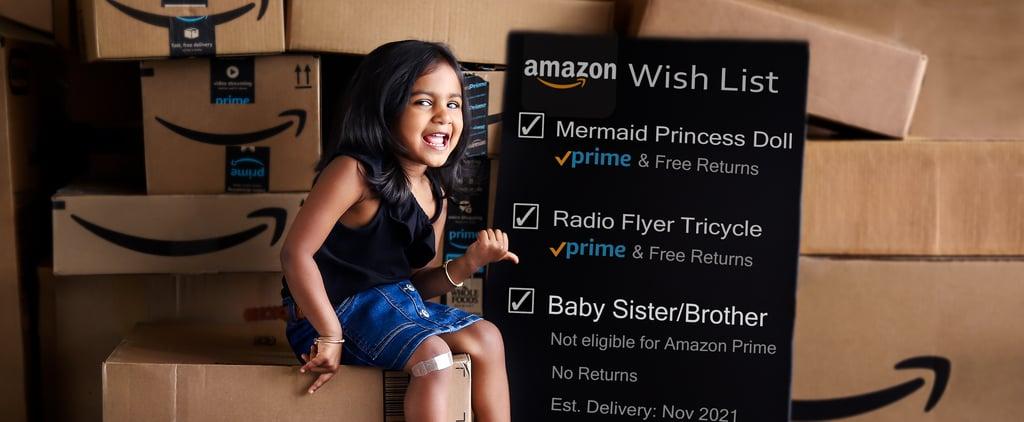 Amazon Prime Wish List Pregnancy Announcement