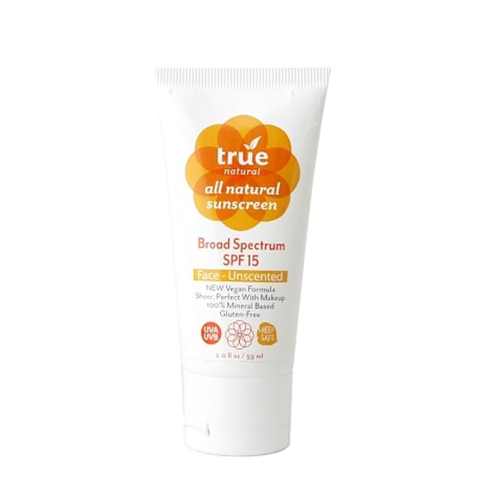 Animal lovers, listen up! True Natural Sunscreen SPF 15 ($20) is made with a 100 percent vegan formula.