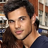 Taylor Lautner surveyed a crowd of fans in London.